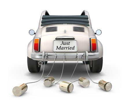 c�r�monie mariage: Juste mari�. Banque d'images