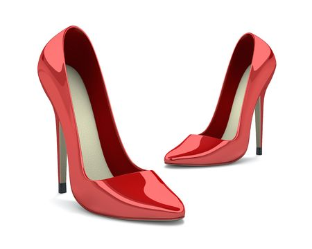high heels woman: Red Shoes