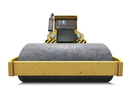 road paving: Steamroller