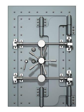 caja fuerte: Puerta de b�veda