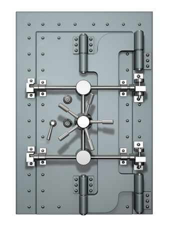 combination lock: Vault door Stock Photo