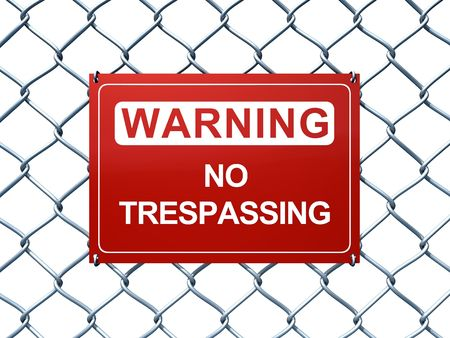 chainlink fence: Warning