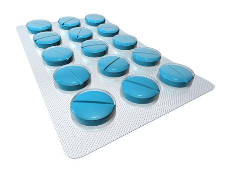 a tablet blister: Pills