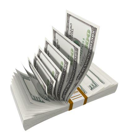 hoard: Money Disappear Stock Photo