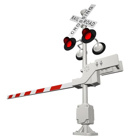 Railroad crossing photo