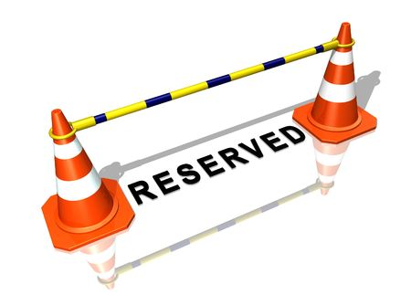 places of work: Reserved place
