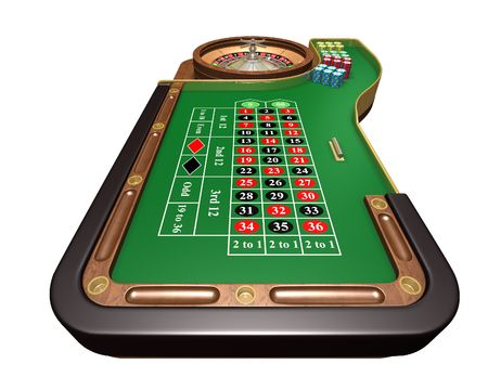 roulette game: Roulette table