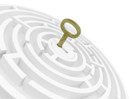 tecla enter: Clave para Maze  Foto de archivo