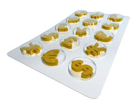 medicament: Financial medicament  Stock Photo