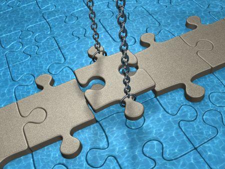 intercession: Bridge (concept with a puzzles)