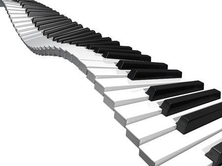 Wavy keyboard Stock Photo - 6516403