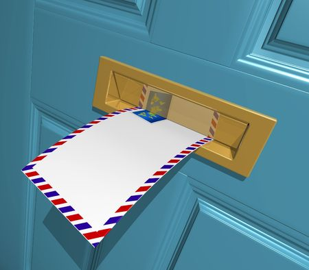 postoffice: Letter in the letterbox