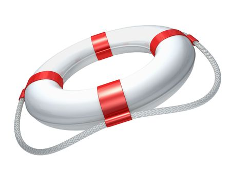 rubber ring: White lifebuoy