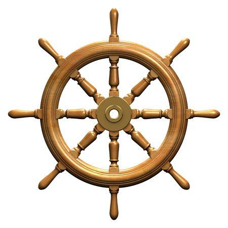 ships: Ships wheel Stock Photo
