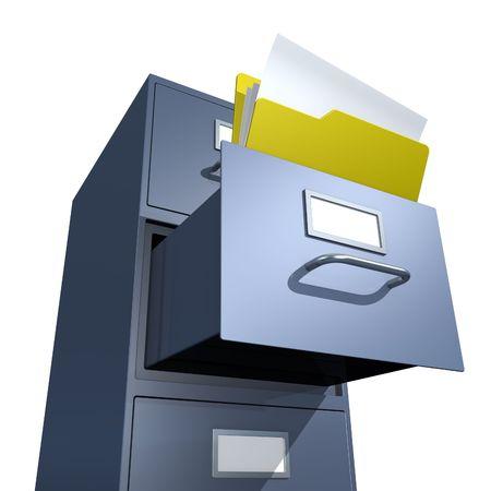 storage room: Opened folder in file drawer