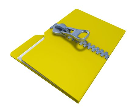 Zipped folder Stock Photo - 6516435