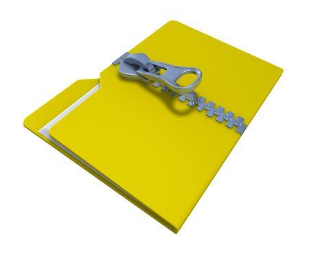 Zipped folder Stock Photo - 6516435