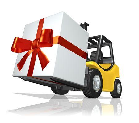 millboard: Big gift Stock Photo