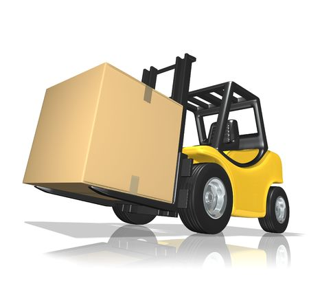 millboard: Big delivery Stock Photo