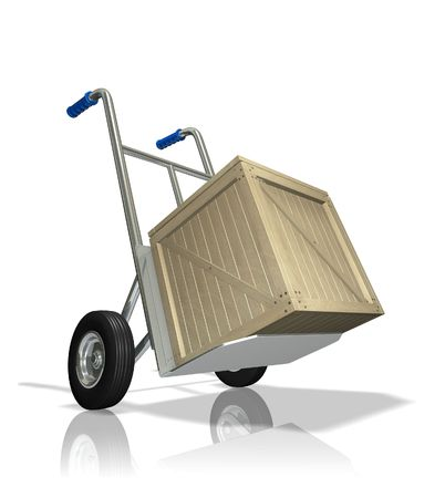 Delivery in the crate Stock Photo - 6516437