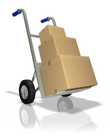 chit: Package delivery Stock Photo