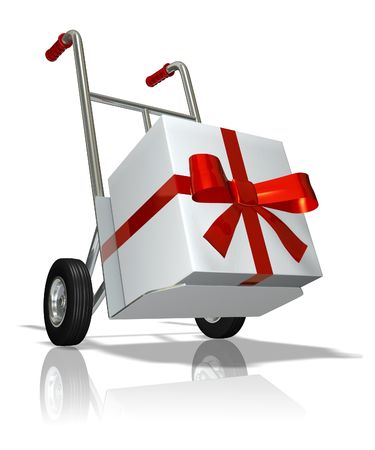 millboard: Hand truck with the gift