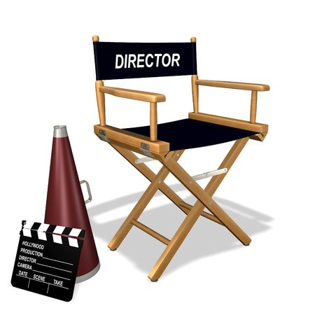 old movies: Directors chair Stock Photo
