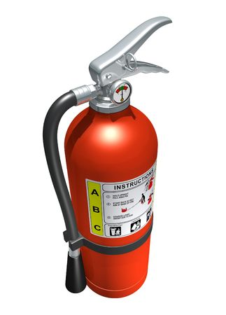 fire hazard: Fire extinguisher (isolated)