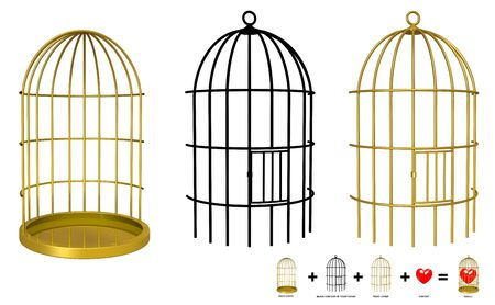 Put your object in the cage with Photoshop or Gimp Stock Photo - 6516589