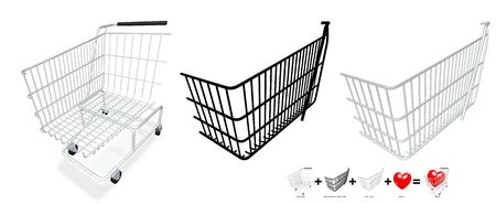 grocery trade: Put your content in the shopping cart with Photoshop or Gimp Stock Photo