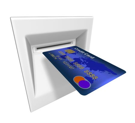 Credit card in ATM machine Stock Photo - 6516527