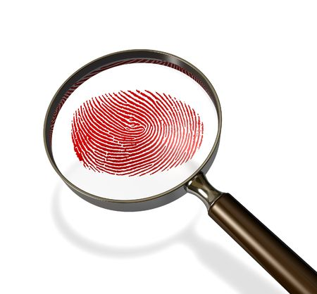 fingerprint: Trace of crime Stock Photo