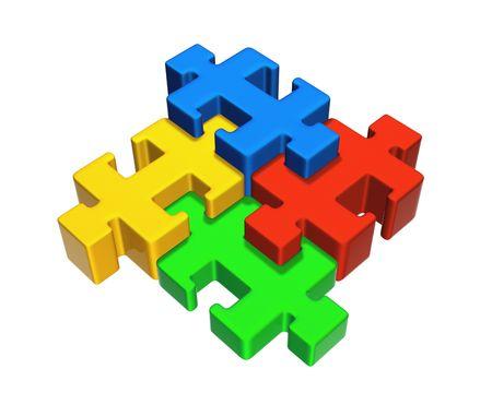 chamfer: Puzzle Stock Photo