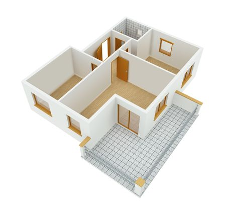floorplan: New apartment Stock Photo
