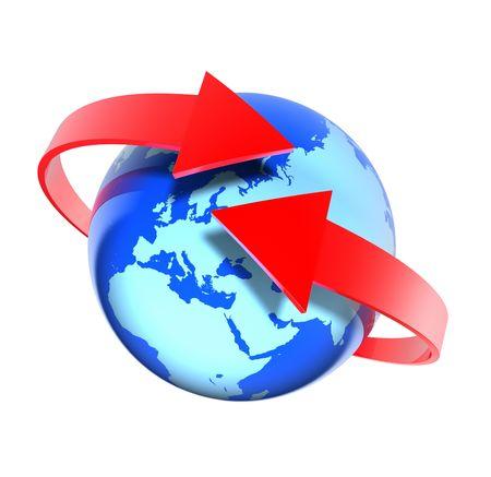 Around the world (Europe view) Stock Photo - 6516625
