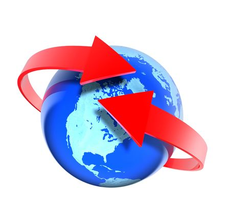 global trade: Around the world