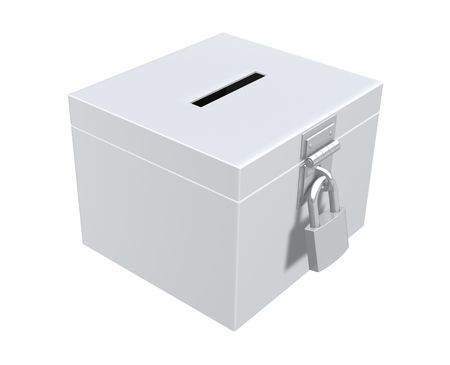 voter: Ballot Box Stock Photo