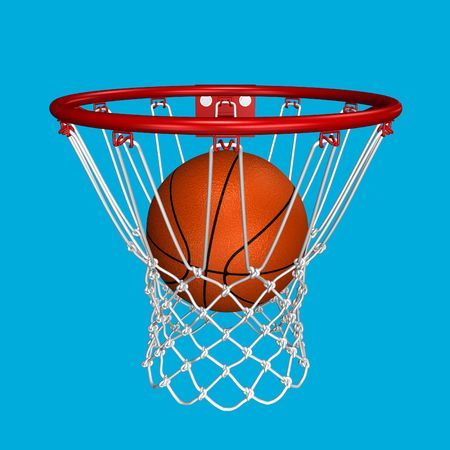 Basket shot with adaptive background  photo