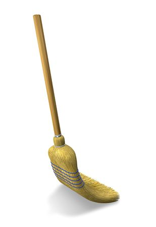 whisk broom: Sweeping Stock Photo