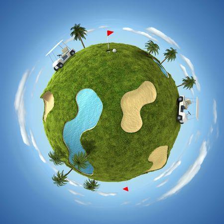 golf cart: World of golf