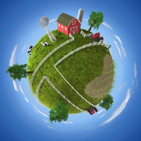 rural land: Farm Stock Photo