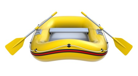 yellow boats: Inflatable boat