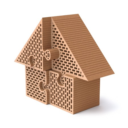 building materials: House puzzle