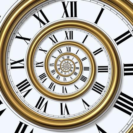 reloj antiguo: Espiral de tiempo  Foto de archivo