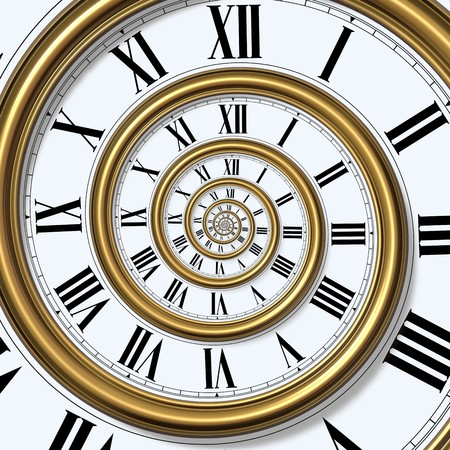antique clock: Time Spiral Stock Photo