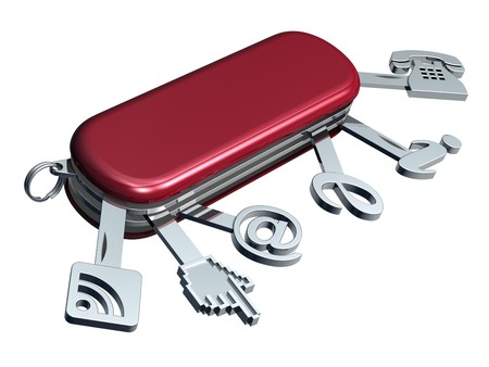 Web services-3D concept with swiss knife Stock Photo - 7313981