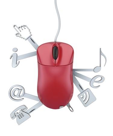 kozik: Koncepcja usÅ'ugi 3D sieci Web z komputera myszy Zdjęcie Seryjne