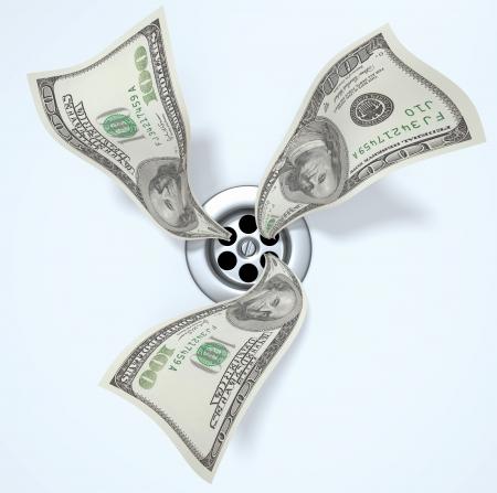 Money Down the Drain Stock Photo - 7400856