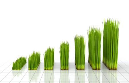 Chart created with green grass  Stock Photo - 7439954