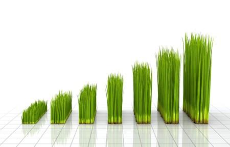 create: Grafico creato con erba verde